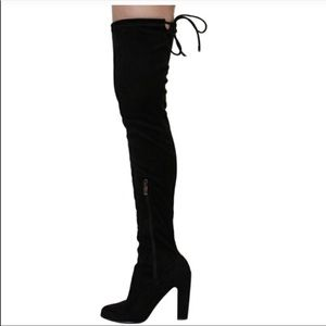 Cape Robbin Kylie-1 black over the knee boots new